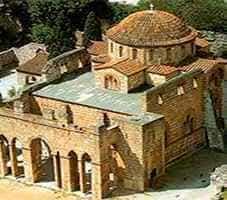 монастырская церковь 11-го века в Дафни