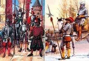 швейцарские пехотинцы средневековья
