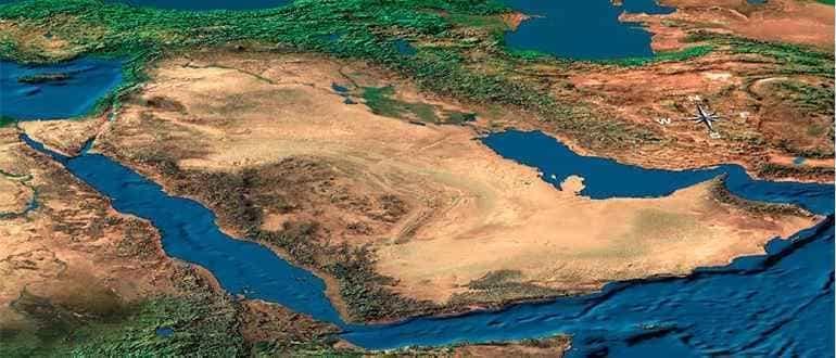 карта Аравийского полуострова