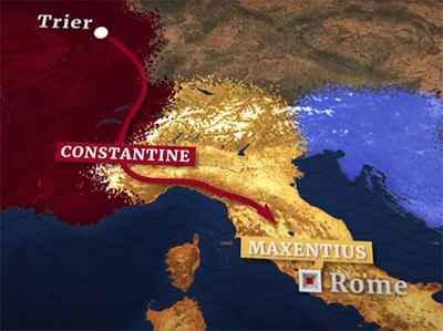 поход константина на рим