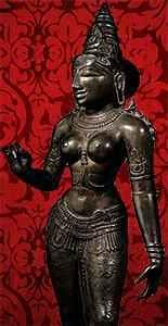 Богиня Парвати скульптура. Бронза Чола