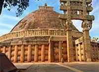 Буддийская ступа в Санчи Индия